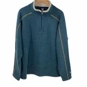 Kuhl Men's 1/4 Zip Pullover Fleece Sweater XL